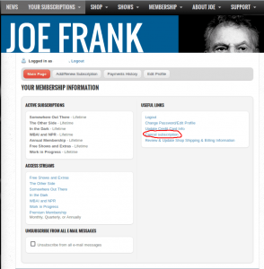 01.2-Your-Membership-Information-Joe-Frank---The-Official-Website