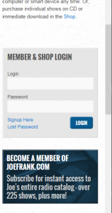 Login at bottom - Mobile